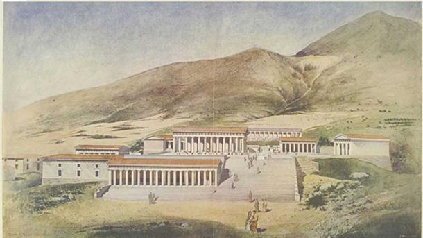 Reconstruction of the Heraion in the ancient city of Argos, Greece.