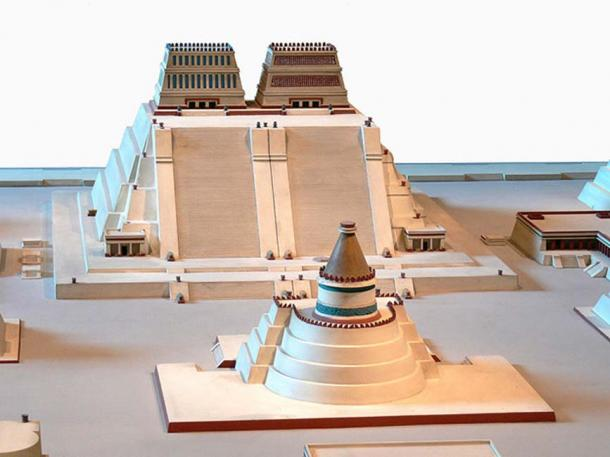 Reconstruction of the Templo Mayor of Tenochtitlan where experts may have found an Aztec Royal Burial. (Joyborg / CC BY-SA 3.0)