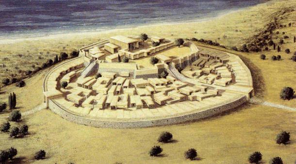 Reconstruction of the citadel of Arkaim, Russia. (Reydekish)