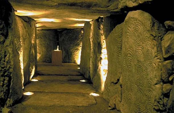 Reconstruction of the inside of a burial mound, Bougon Museum