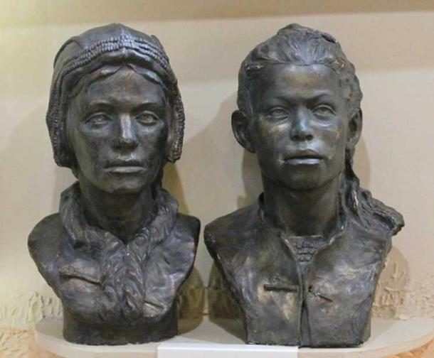 Reconstruction of what the children in the Sunghir double burial may have looked like.