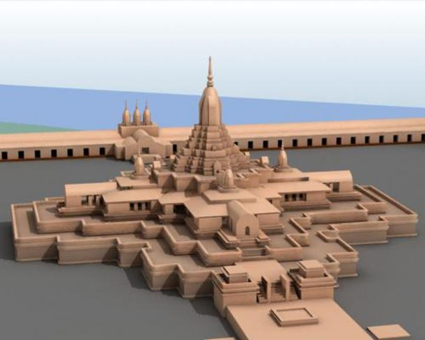 Recreation of Somapura Mahavihara (Ali Naqi / CC BY 3.0)