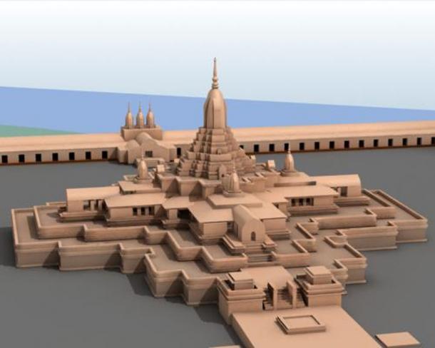 Recreation of Somapura Mahavihara (Ali Naqi / CC BY 3.0)