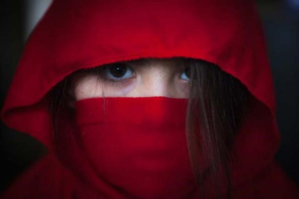 Red female ninja.
