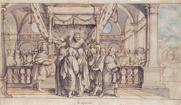 'Rehoboam's Insolence' (1530) by Hans Holbein. (Public Domain)