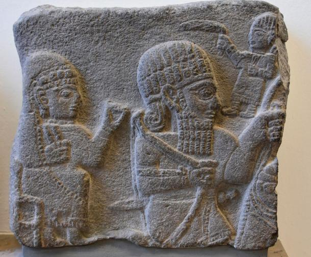 Relief from the citadel of Sam'al (Zincirli), 730 BC