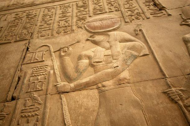 Relief of Horus, God of Sun, Sky, and Kingship.