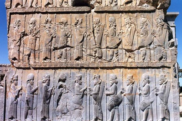 Relief of Persian and Median warriors