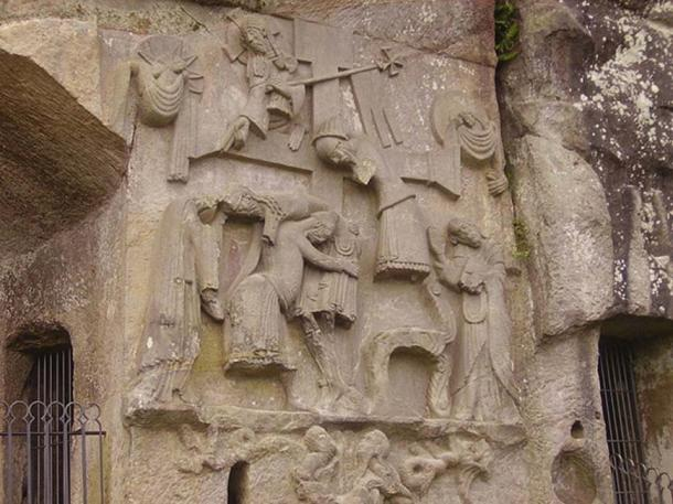 Relief of The Deposition from the Cross of the Externsteine, Horn-Bad Meinberg.