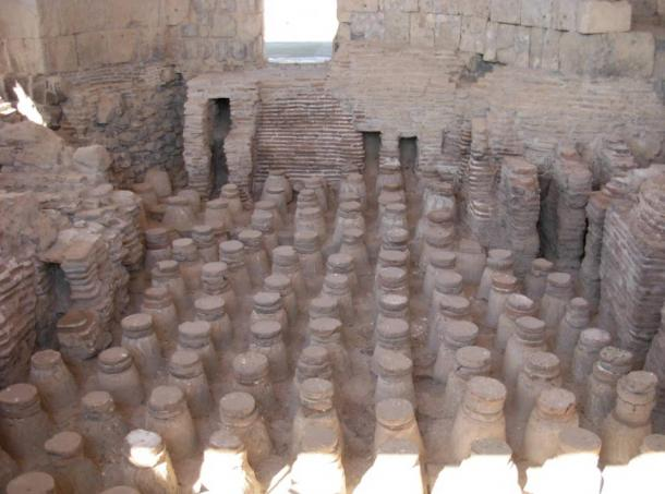 Remains of Roman bathhouse in Israel