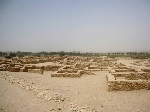 Remains of Saar temple, a temple dating to the Dilmun era of Bahrain's history
