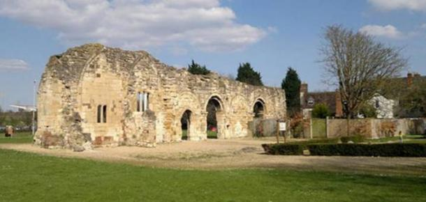 Remains of St Oswalds Priory, Gloucester, burial place of Æthelflæd and Æthelred