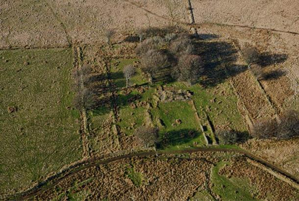 Remains of a farm in Exmoor, UK
