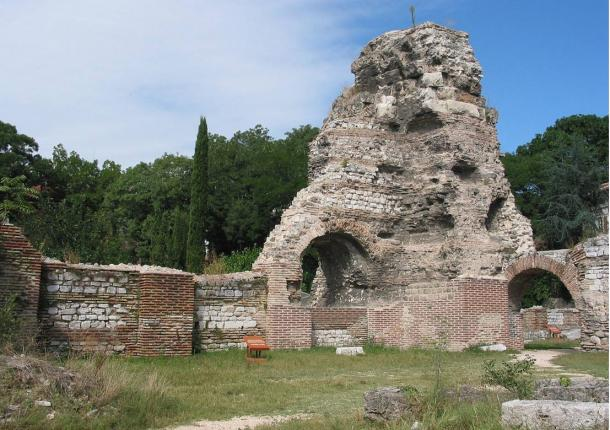 Remains of ancient Odessus in Varna, Bulgaria