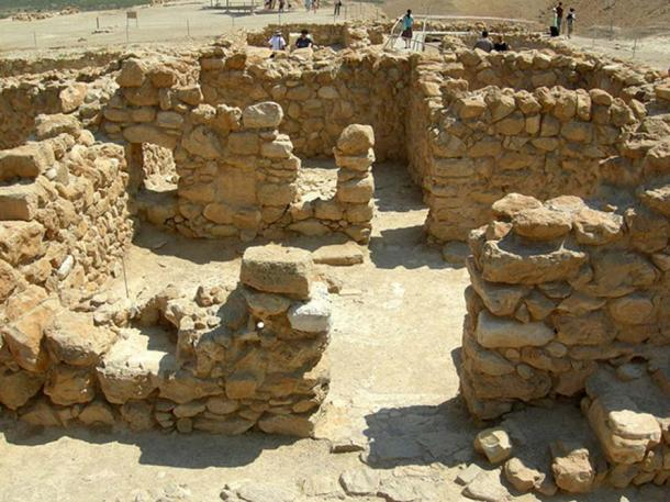 Remains of living quarters at Qumran