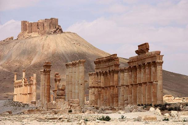 Remains of the Camp of Diocletian (foreground) at Palmyra. (Ulrich Waack/CC BY SA 3.0)