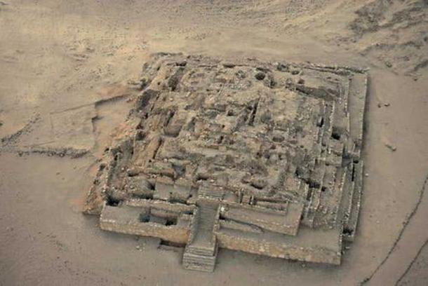 Remains of the Great Pyramid of Caral.