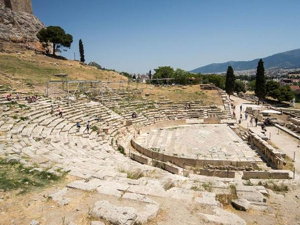 Remains of the Theatre of Dionysus, Athens Acropolis. (Dronepicr / CC BY-SA 2.0)