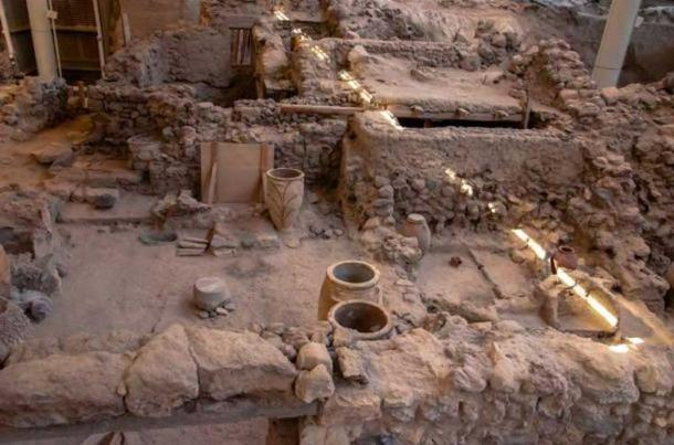 Remarkably preserved artifacts are revealed from the ruins of ancient Akrotiri, Greece. (BigStockPhoto)