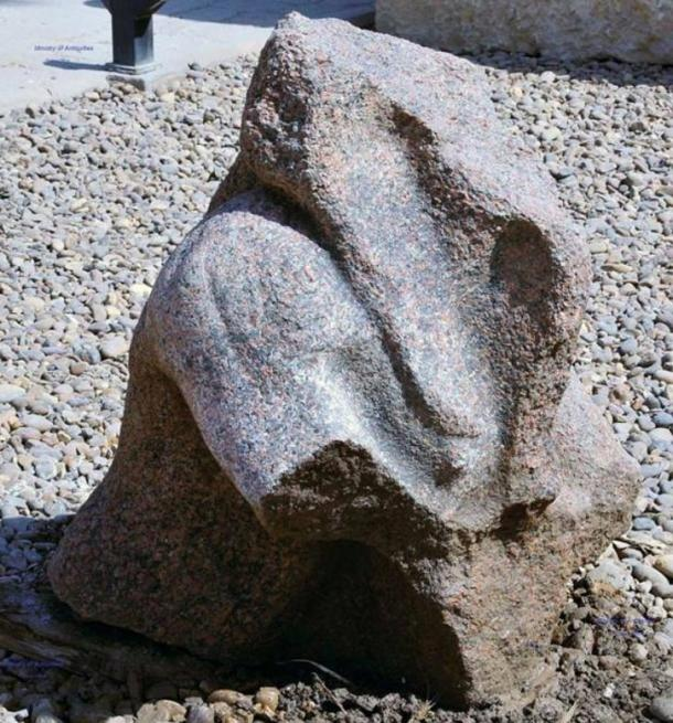 Remnant of the bust of Pharaoh Merineptah