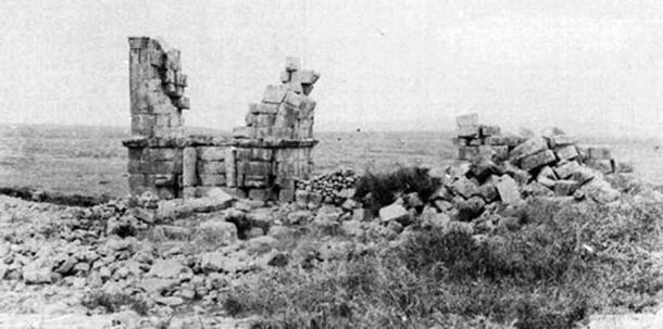 Bottom: Remnants of the basilica as seen in 1887 before its later restoration.