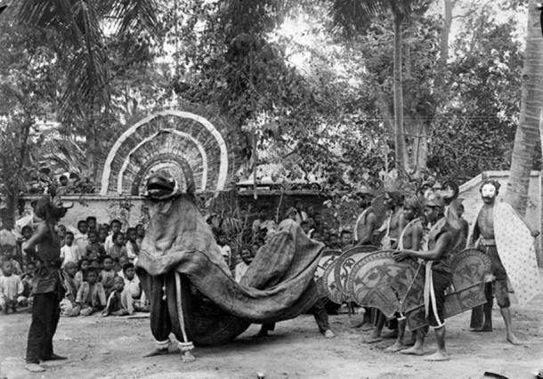 Reog Ponorogo dancers, 1920