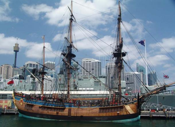 Replica of Cook's Ship Endeavour. (CC0)