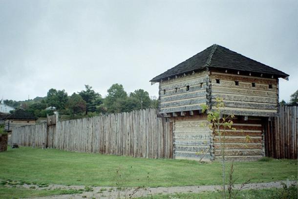 Replica of Fort Randolph, where Cornstalk was murdered.