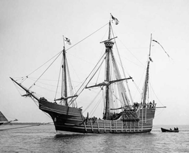 Replica of the Columbus ship the Santa Maria. The shipwreck discovered was a of similar build. (Ralf Roletschek / Public Domain)