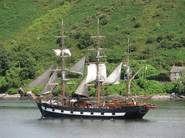 Replica of the Jeanie Johnston.