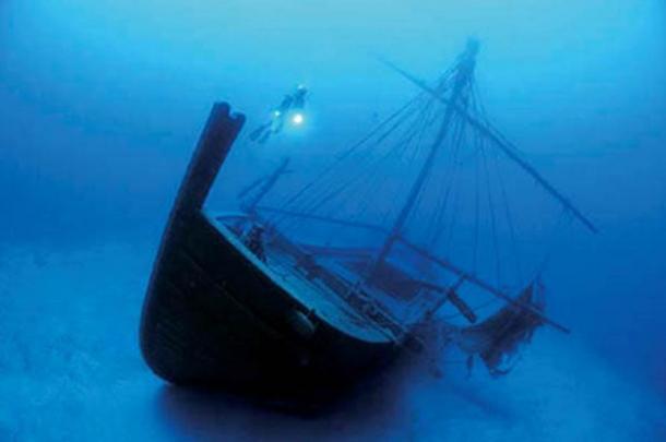 Replica of the Uluburun shipwreck.