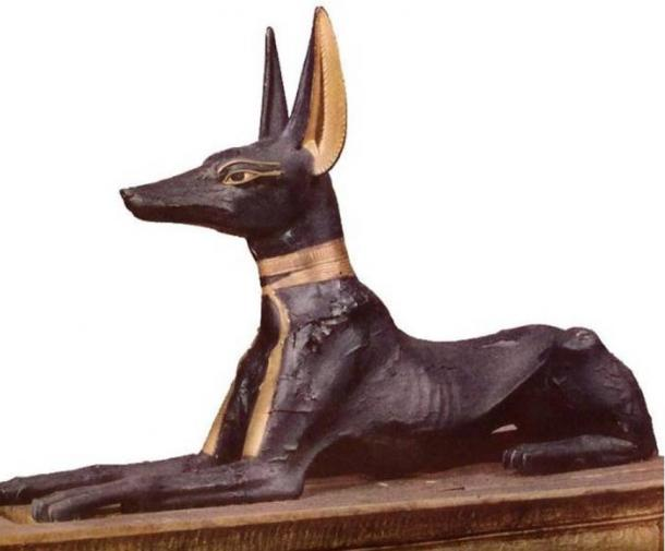 Representation of Anubis from the tomb of Tutankhamen.
