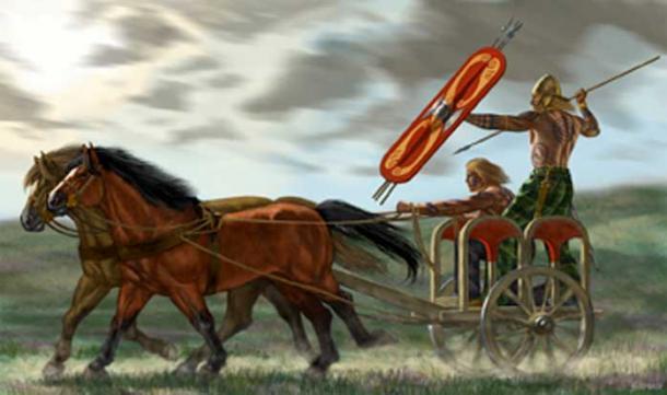 Representation of a Celtic chariot.