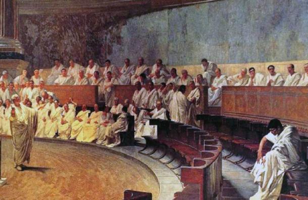 Representation of a sitting of the Roman senate. (Alonso de Mendoza / Public Domain)