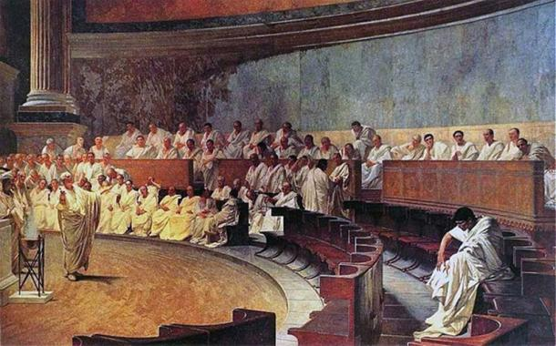 Representation of a sitting of the Roman senate. (Palazzo Madama / Public Domain)