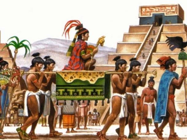 Representation of an Aztec ruler.