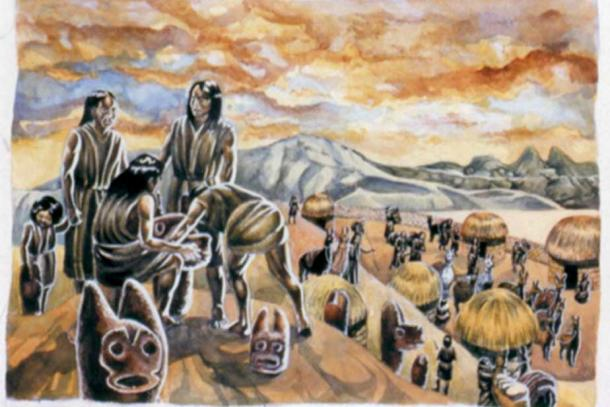 Representation of people from the Wankarani culture who lived in the highlands of what is now Bolivia. (Pablo Villagomez)