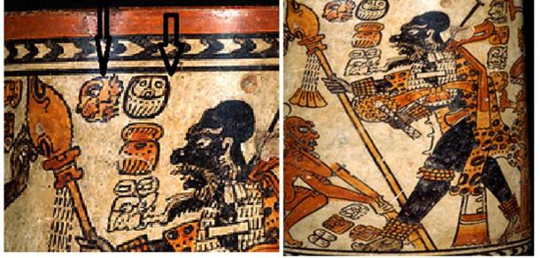 Representation of the Chontal dignitary on the Chama vase named Jaguar Ahau. (Author provided)