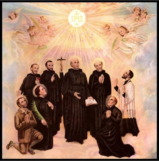 Representation of the North American martyrs. (Communio)