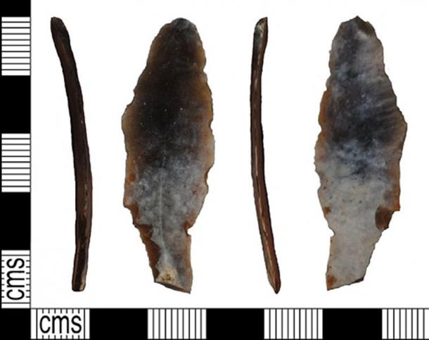 Representation of the flint tool discovered. (Fæ / CC BY-SA 2.0)