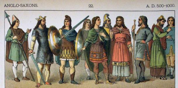 Representation of Anglo-Saxons, one group of early Medieval Europeans. (Public Domain)