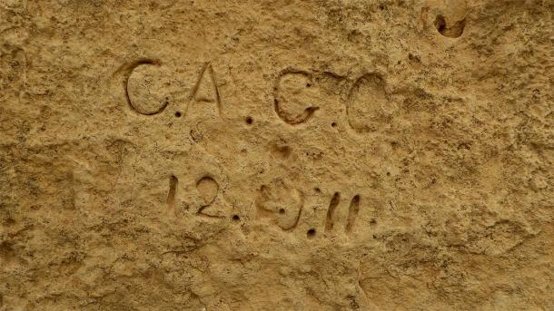 Representative graffiti at a megalithic site in Malta, Spain (Ethan Doyle White / CC BY-SA 4.0)