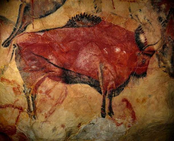 Reproduction of a bison of the cave of Altamira at the Altamira Museum and Reseasrch Center.