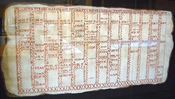 Reproduction of the Fasti Antiates Maiores or Roman Calendar (Bauglir /CC BY-SA 4.0)