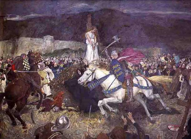 The rescue of Guinevere in a William Hatherell painting. (Public domain)