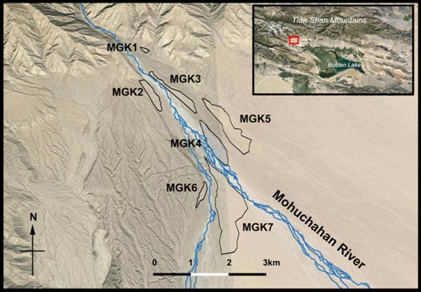 Researchers have identified seven areas along the Mohuchahan Valley (MGK), where ancient irrigation systems once functioned. The current study focuses the MGK4 plot.