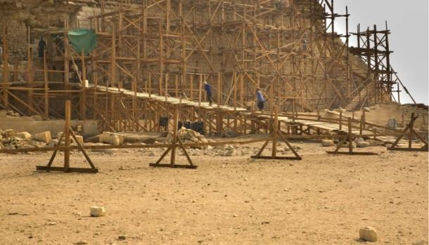 Restoration work at Saqqara