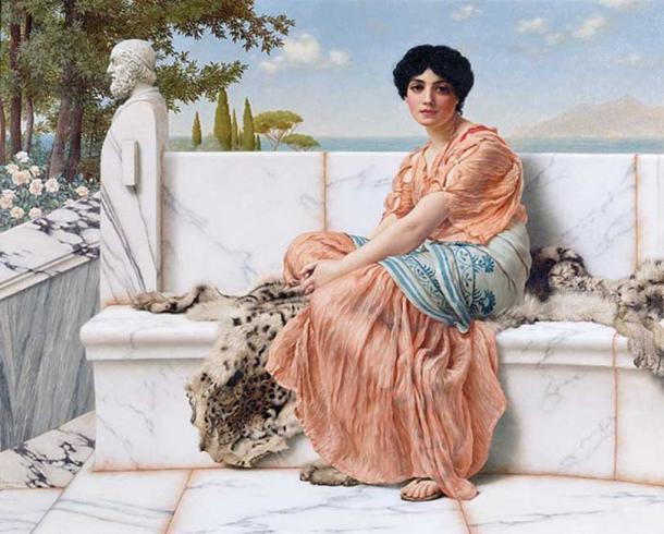 'Reverie' aka 'In the Days of Sappho' (1904) by John William Godward. (Public Domain)