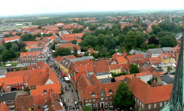 Ribe is Denmark's oldest commercial center. It looks much different in this photo than it did when Norwegians came around 725 AD to trade reindeer antlers.