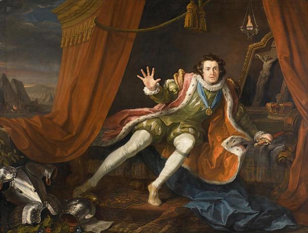 David Garrick as Richard III. (c. 1745) By William Hogarth.
